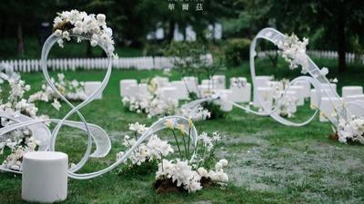 简约风白色系户外婚礼