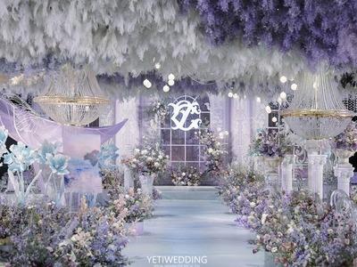 梦幻莫奈紫油画风婚礼
