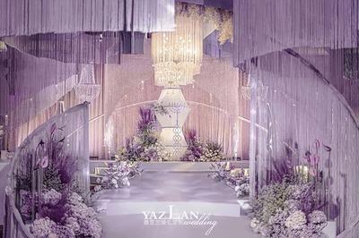 神秘且浪漫的紫色系婚礼