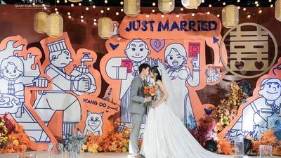 活波可爱的漫画婚礼