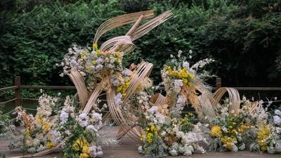 创意设计感的户外婚礼