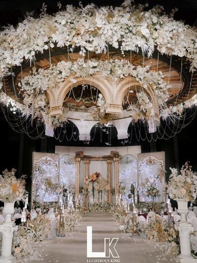 香槟色系的欧式婚礼