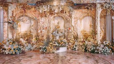 浪漫的复古秋色系婚礼