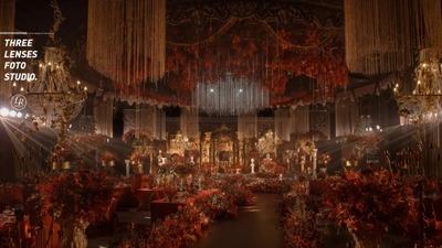 红金色系欧式宫廷风婚礼