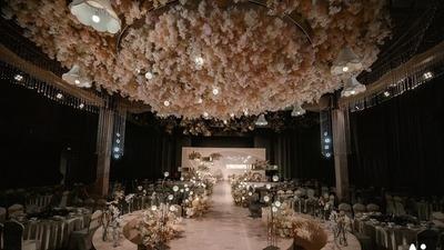 浪漫时尚的祼粉色系婚礼