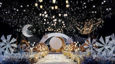超美的香槟色系婚礼