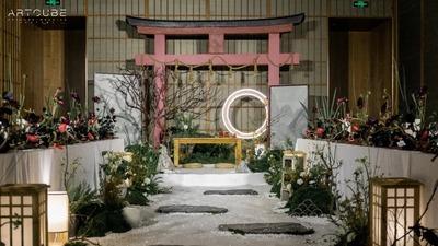以枯山水景观为设计灵感的雅致日式婚礼