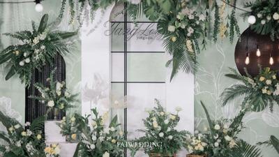 清新淡雅的白绿色系婚礼