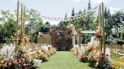 秋季的游园会婚礼