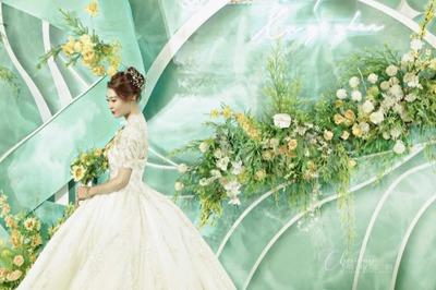 高级感的薄荷绿色系婚礼