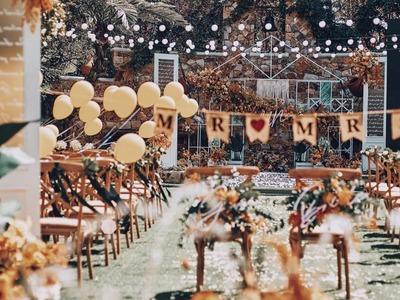 秋季复古橘色系婚礼