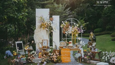 有质感的小众森系婚礼
